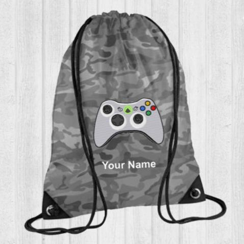 Personalised XBOX Gamer Drawstring PE Swim Bag